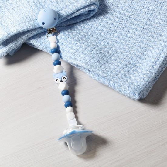 Chain Soother Holder Blue