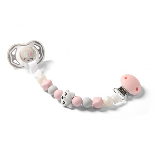 Chain Soother Holder Pink