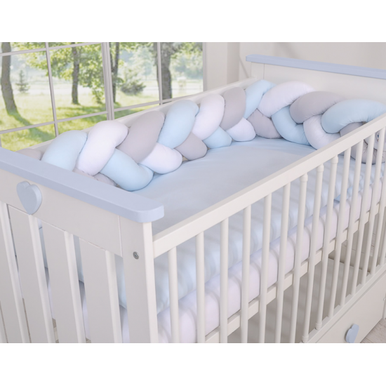 Cot Bumper Braided -...