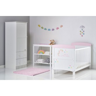 Maldive 3 Piece Nursery Set with Cot, Dresser & Wardrobe