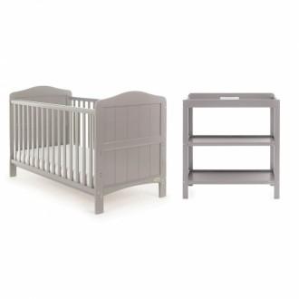 GOA 3 Piece Nursery Set With Cot, Dresser & Wardrobe
